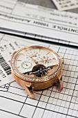 Close-up of wrist watch machine, Le Sentier, Vallee de Joux, Switzerland