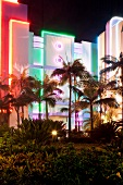 Südafrika, Durban, Casino, abends, bunt beleuchtet