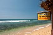 Vernon's Surf View Beach Restaurant on Hikkaduwa beach, Sri Lanka