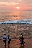 Tourists enjoying at Tangalle beach, Indian Ocean, South Coast, Sri Lanka