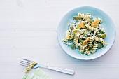 Abnehmen, Nudel-Lauch-Salat, Spiralnudeln, Lauch, Nudeln
