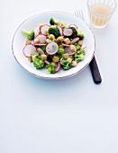 Abnehmen, Brokkoli-Salat, Brokkoli-Radieschen-Salat
