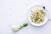 Abnehmen, fruchtiger Schinkensalat, Fenchelknolle
