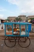 Wheel cart of Sri Lankan street food at Columbia