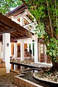 Guests at the reception area of Barberyn Reef Ayurveda Resort, Beruwala, Sri Lanka