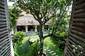 View of private villa No. 20 and garden at Galle Fort, Sri Lanka