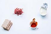 Abnehmen, Zusammenstellung, Snacks zum Frühstück