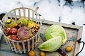 Wintergemüse: Steckrüben, Kartoffeln & Weisskohl