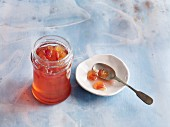 White wine jelly with nectarines