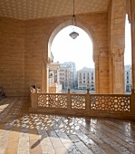 Balcony with arcades in Old Town, Beirut, Lebanon