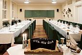 Kosher classroom of girl's school in Berlin, Germany