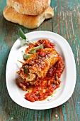 Abnehmen to go, Involtini mit Tomatengemüse
