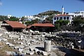 Ruins of Mausoleum at Halicarnassus in Bodrum, Aegean Region, Turkey