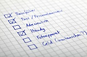 Checkliste, Zettel, Notiz, Urlaub, Erledigungen, Reiseplanung