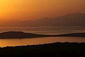 View of landscape at sunset in Satan's Supper in Ayvalik, Aegean, Turkey