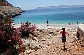 Türkei, Türkische Ägäis, Strand, Urlauber, Badebucht