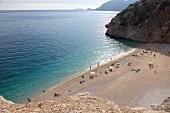 Türkei, Türkische Ägäis, Kaputas, Strand, Urlauber, Bucht