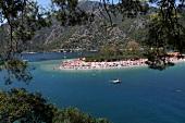 Türkei, Türkische Ägäis, Ölüdeniz, Strand, Bucht, Tourismus
