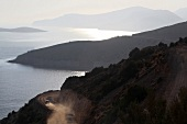View of mountains and sea between Datca and Knidos, Resadiye Peninsula, Turkey