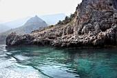 Türkei, Türkische Ägäis, Halbinsel Resadiye, Landschaft, Felsenküste