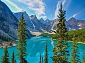 View of Moraine Lake in Banff National Park, Alberta, Canada