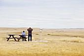 Visitors at the Grasslands National Park, Saskatchewan, Cananda