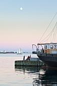 Ship at waterfront, Halifax Regional Municipality, Nova Scotia, Canada