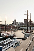 Kanada, Montreal, Vieux Port, Quai Jacques-Cartier, Hafen, Abendlicht