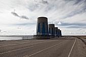 Kanada, Saskatchewan, Power Plant am Gardiner Dam