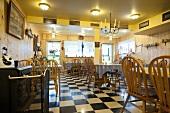 Interior of German Restaurant in Amherst, Nova Scotia, Canada