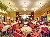 Interior of restaurant in The Fairmont Hotel, Vancouver, British Columbia, Canada