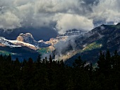 View of Bow Valley and Banff National Park Mount Pilot in Alberta, Canada