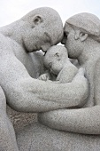 Close-up of Statue in Vigeland Sculpture park in Oslo, Norway