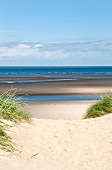 View of beach at Burnham Overy Staithe, England