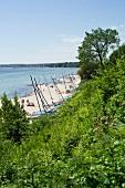 View of Sierksdorf beach in bay of Luebeck, Holstein, Schleswig Holstein, Germany