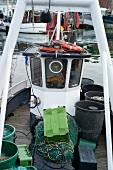 Fishing boat in Niendorf harbour, Bay of Lubeck, Schleswig Holstein, Germany