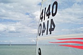 Close-up of boat wings, Gromitz, Schleswig Holstein, Germany