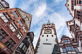 Low angle view of St. Martin's church, Freiburg, Germany