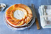Nectarine cake with mascarpone