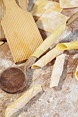 Homemade garganelli