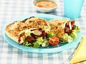 Tandoori chicken in pitta bread
