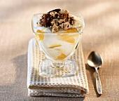 A lemon curd and yoghurt dessert