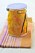 A jar of pineapple compote