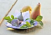 Stillleben mit Birnen und Feigen