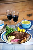 Bistecca alla fiorentina (T-bone steak with herb butter)