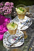 Lime and mint jelly