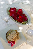 A slice of bread topped with goose liver