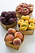 Cartons of Peaches and Plums