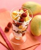 Raspberry Mango Parfait