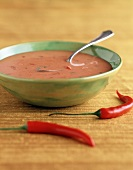 Bowl of Chili Pepper Soup